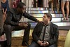 "Company boss Sergio (SEAN COMBS) discusses the mission with Aaron (JONAH HILL) in ""Get Him to the Greek"""
