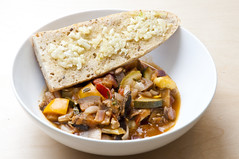 Ratatouille with Garlic Bread