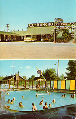 el_rancho_motor_lodge_east_rock_springs_WY (it's better than bad) Tags: pictures travel water pool architecture swimming swim vintage photography hotel photos motel roadtrip retro swimmingpool photographs 1950s postcards americana 1960s oldphotographs oldpictures googie 20thcentury bathingsuit vintagepostcards
