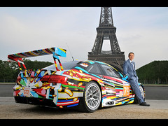 2010 BMW M3 GT2 Art Car by Jeff Koons