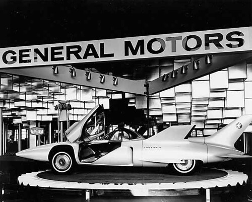 General Motors Corporation exhibit showing the Firebird III, Century 21 Exhibition by UW Digital Collections