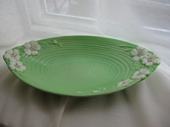 Maling Dish 088 (badhesterprynne) Tags: china green kitchen floral vintage shiny dish ripple bowl collection collections artdeco iridescent rippled deco serving maling luster lusterware mintgreen opalescent lustre figural lustrous lustreware malingware