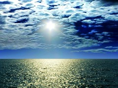 Sun & serenity (Gajni2) Tags: sea sky sun seascape water clouds peaceful calm serene tranquil breathtaking thegalaxy sea breathtakinggoldaward arabian breathtakinghalloffame