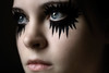 Day Two Five Seven (Lou Bert) Tags: portrait woman selfportrait black eye art girl face self star paint makeup explore frontpage spikes laurenbatesphotography