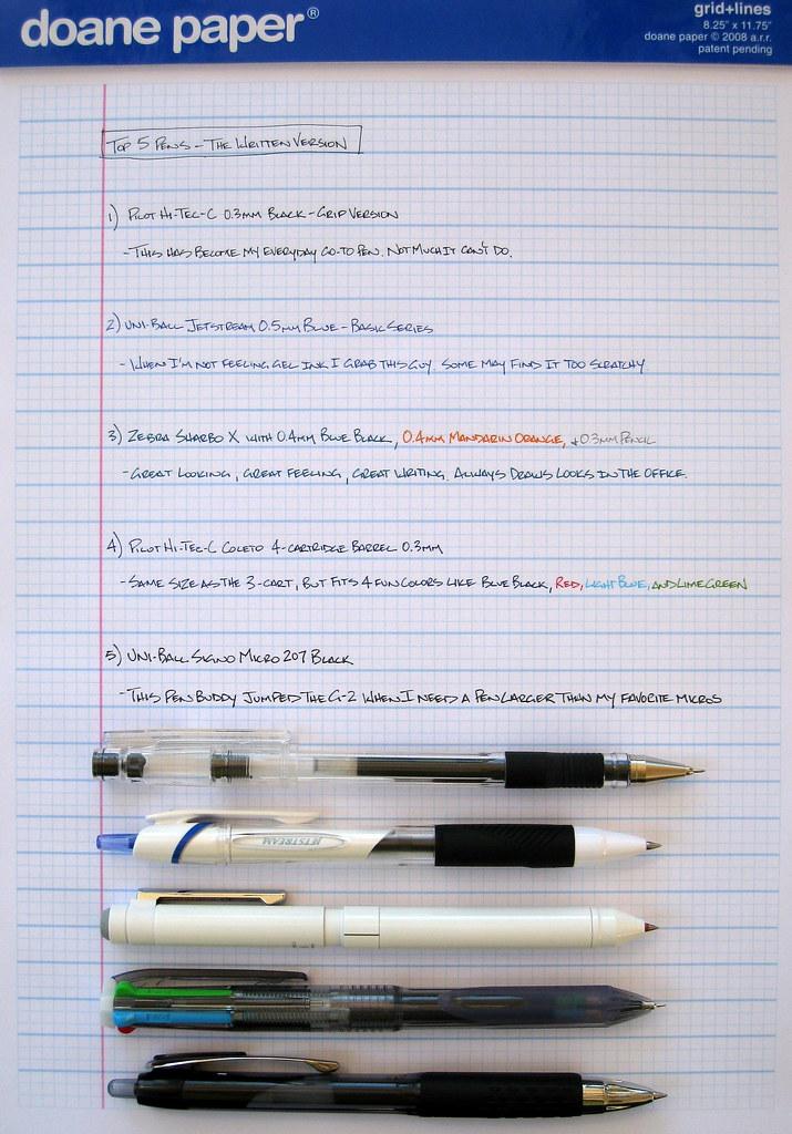 Top 5 Pens June 2010