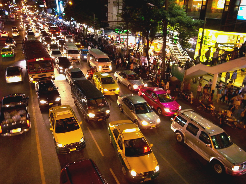 Traffic jam in Bangkok - The busy life