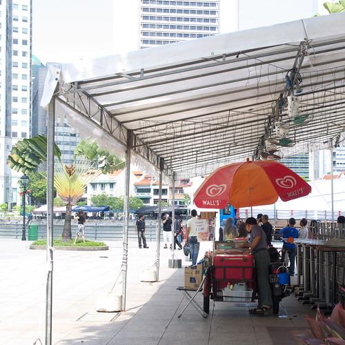 路邊賣冰品或飲料的小販