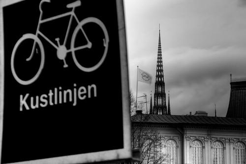 Señal con bicicleta. Estocolmo