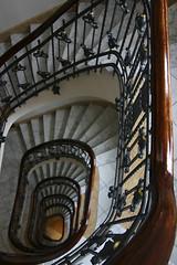 ...down (michael_hamburg69) Tags: wood black metal stairs germany geotagged spiral deutschland wooden stair hamburg rail well treppe ornament holz kaufmann gelnder wendeltreppe strtebeker handlauf kontorhaus hanseat hanseatisch sderstrasse treppenauge hammsd klausstrtebeker wellmouth strtebekerhaus sderstrasse288 geo:lat=535471 geo:lon=1005799