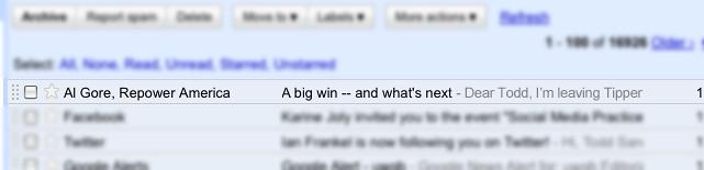 Al Gore sent me an email...
