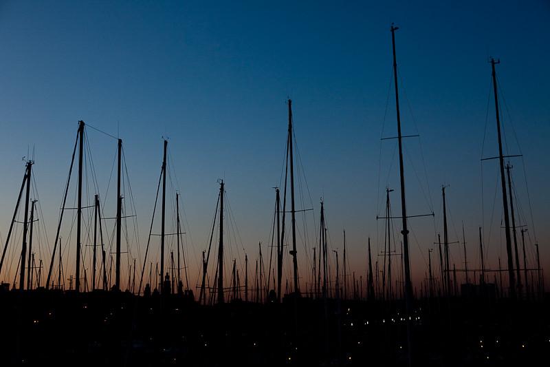 Barcelone - Coucher de soleil sur le port