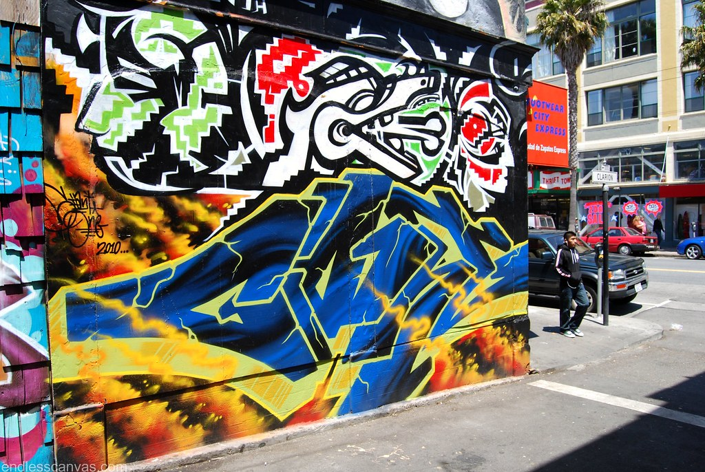 Mike Giant Graffiti Piece in San Francsico CA.