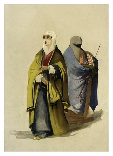 011-Señora turca y sirviente-Sketches of character and costume in Constantinople 1854- Forbes Mac Bean
