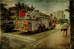 Number 13: Rushing over A1A (Nancy Violeta Velez) Tags: geotagged photography flickr textures firemen firedepartment firefighters firebrigade trained fireservice emergencyservices rescuers volunteerfirefighters rescueservice burningbuildings tatot retainedfirefighters skeletalmess nikond5000 careerfireservice hazardousfire