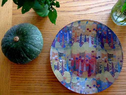 Decoupage Glass Plate