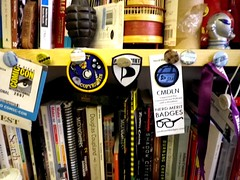Merit badges,  the office, Clerkenwell,London, UK