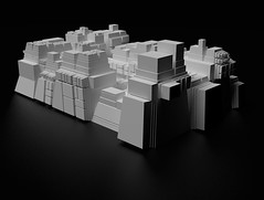 20100616 boca 1 (RUIMTERUIS) Tags: shadow white abstract black blackwhite 3d architectural sketchup kerkythea ruimteruis
