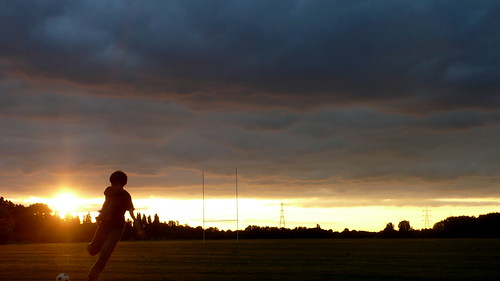 kite-flying and football, hackney marshes