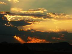 (aLejandro portfolio) Tags: city sunset summer espaa sun mountain tower church landscape atardecer town spain europa europe iglesia ciudad paisaje verano antenna mlaga antenas soleado montaas