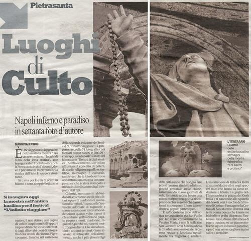L'Infinito Viaggiare - Articolo su Repubblica del 13 maggio 2010