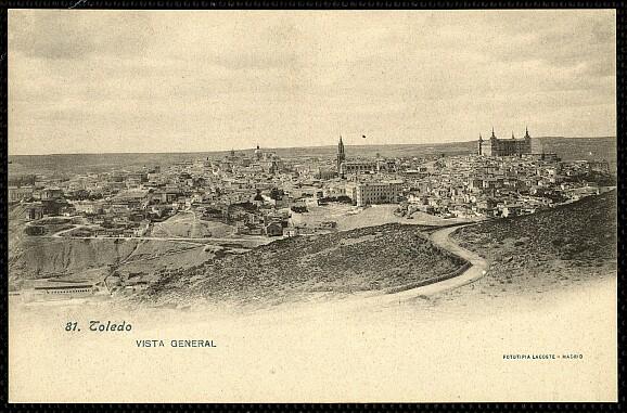 Vista general de Toledo hacia 1900. Foto Lacoste