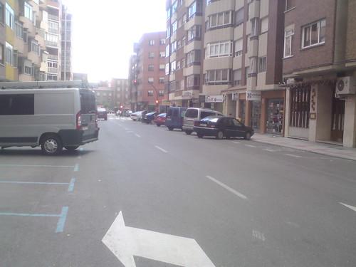coches aparcados en la zona