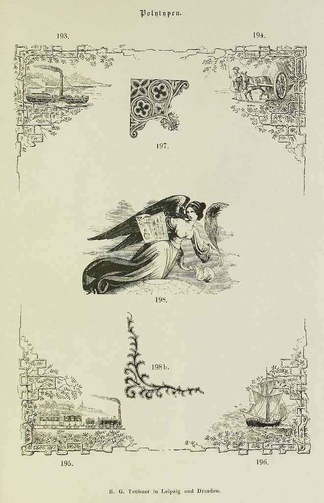 Schrift- und Polytypen-Proben BG Teubner, 1846 i