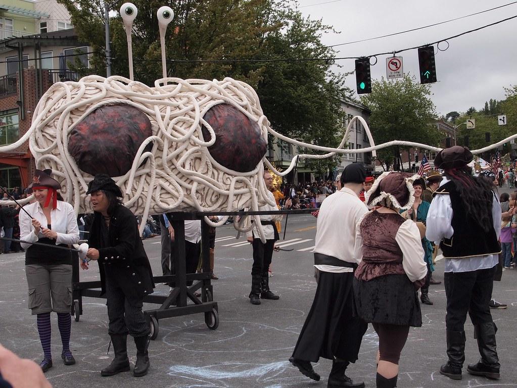 Pastafaris de procesión