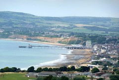 Sandown from Bembridge Downs (ROBERTFROST1960) Tags: isleofwight sandown sandownbay bembridgedowns