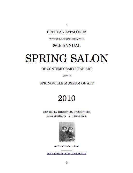 Cover for the First Annual Spring Salon Critical Catalogue.