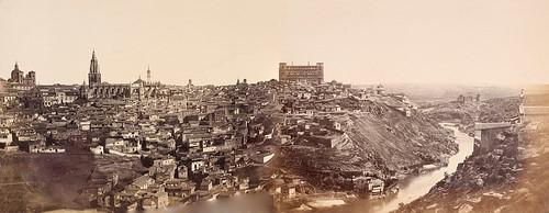 Vista panorámica de Toledo en 1857. Fotografía de Charles Clifford montada por cortesía de José María Moreno