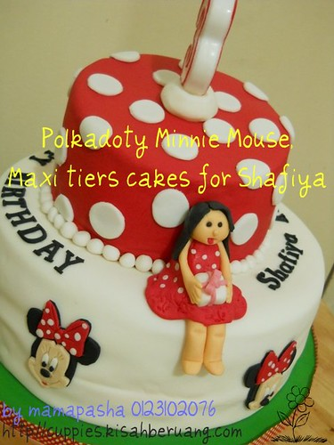 Polkadoty Minnie Mouse, Maxi tiers cakes for Shafiya