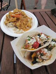 Cashew Nut Curry & Black Bean Sweet Potato Tacos from Chef Shack