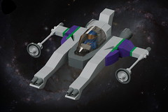 Purple Streak (pasukaru76) Tags: lego space moc starfighter sigma105mm vicviper