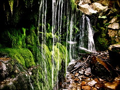 we all roll along (heatherm815) Tags: summer cliff nature water outdoors shower waterfall moss rocks hiking hike