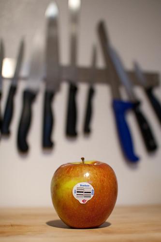 Braeburn apple, grown in Washington