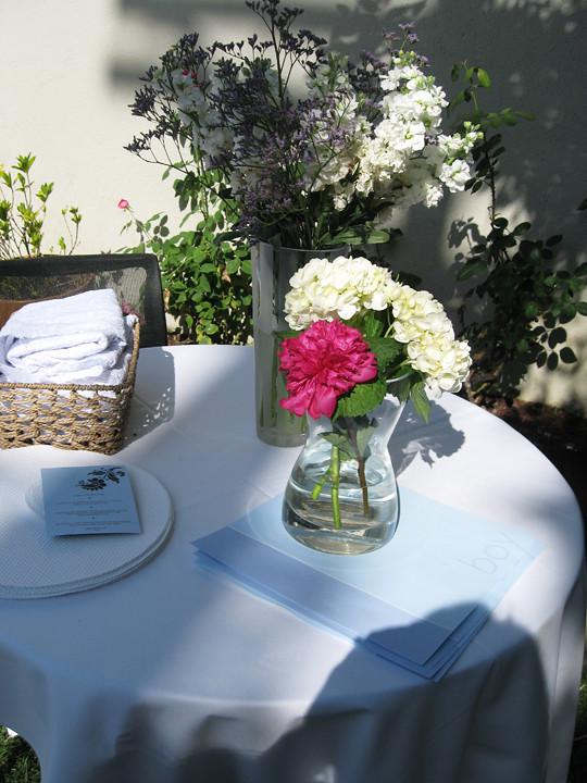 hydrangeas+succulents+roses+its a boy+baby shower decor ideas -12