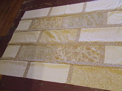 quilt strips, all sewn