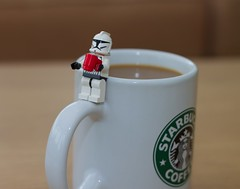 like owner like stormtrooper (jonoakley) Tags: coffee close shot lego stormtrooper