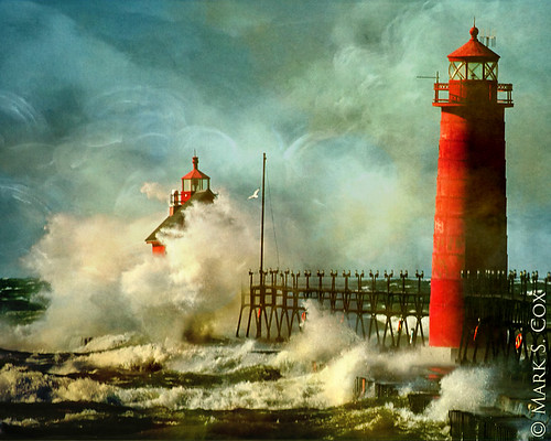 "Grand Haven Lighthouse ""Painting"""