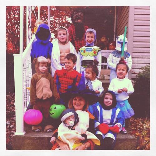 Cousins at Halloween