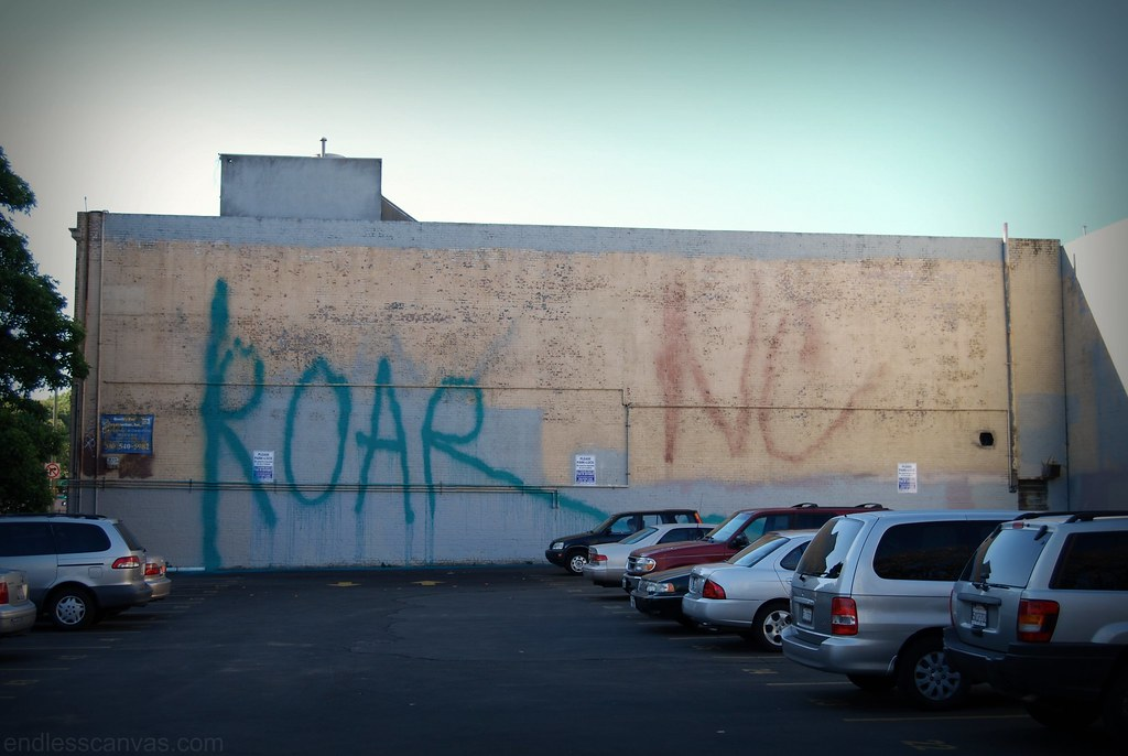 Roar Graffiti Sprayer Tag Oakland.