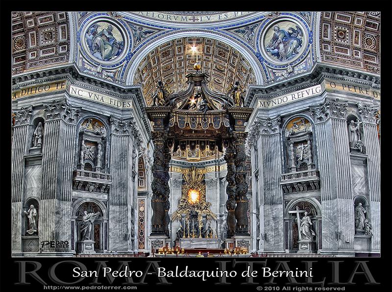 Basílica de San Pedro - Baldaquino de Bernini