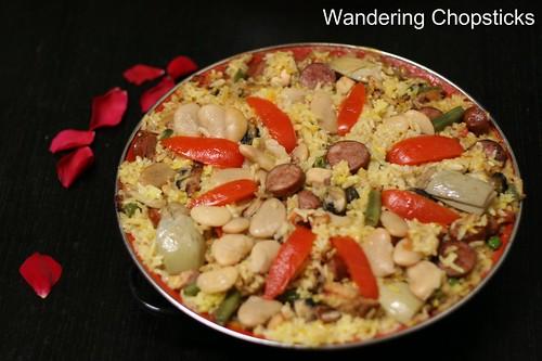 Paella Valenciana (Spanish Valencian Pan Rice) 4