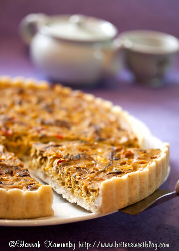 Shiitake Mushroom and Corn Quiche