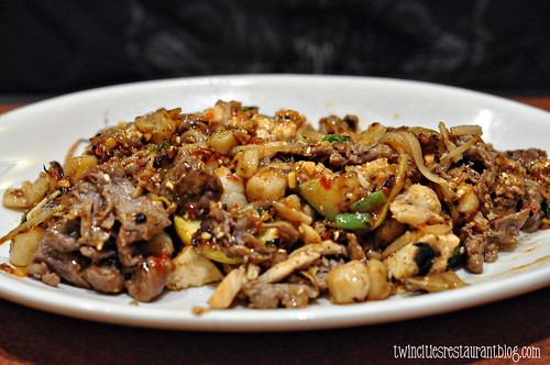 Beef and Scallops with Vegetable Stir-Fry at bd's Mongolian Grill ~ Burnsville, MN