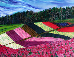 FIELDS OF COLOUR (Nira Dabush) Tags: art studio photography design photo photographer graphic image designer painter  textiledesign  patterndesign    fineartist  textiledesigner tiledesign        painti8ngs felidslandscapeviewcolorcolourfuljoytreesskyplantsfloralflowersspring