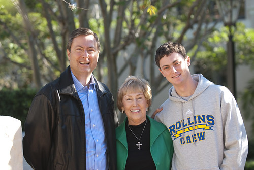 Parent Dan Rice, Dianne Rice (Class of 1961) and Charles Rice (Class of 2014)