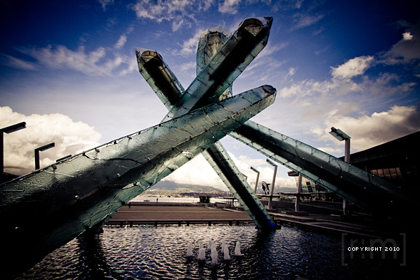The Olympic Cauldron and Flame