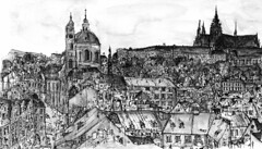 Praha B  (alesmotyl) Tags: sketch prague drawing praha  locationdrawing urbansketcher citydrawing
